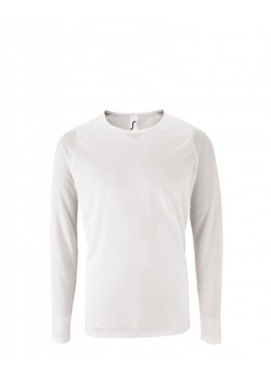 CAMISETA SPORTY LSL MEN BLANCO